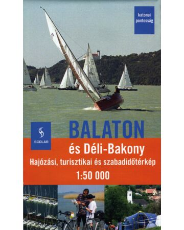 Balaton és Déli-Bakony térkép